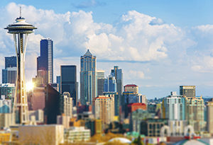 Seattle Cityscape. Seattle, Washington Downtown. United States.